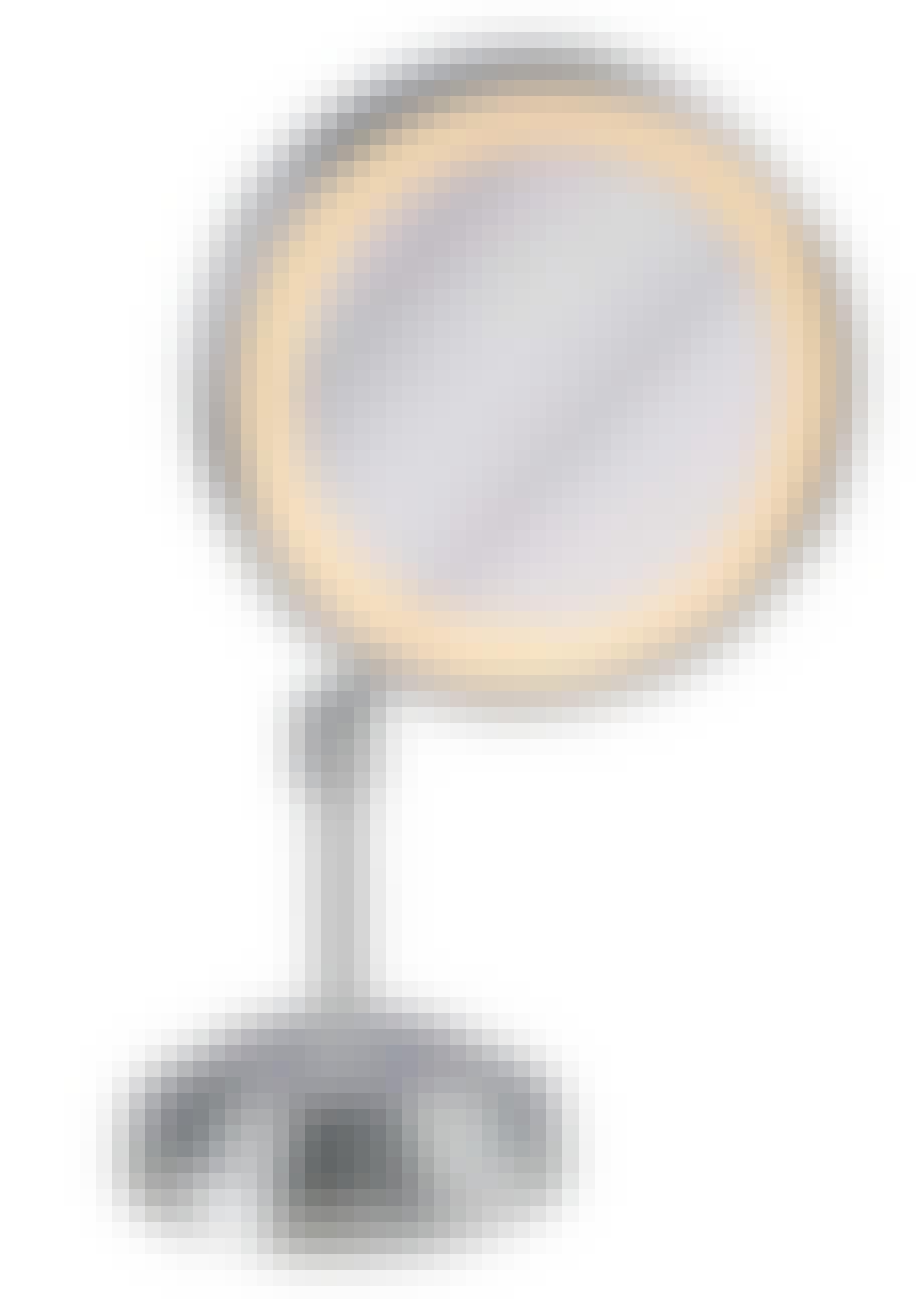 Makeup-spejl med lys