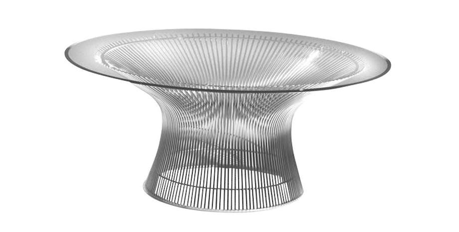 Sofabord i poleret stål