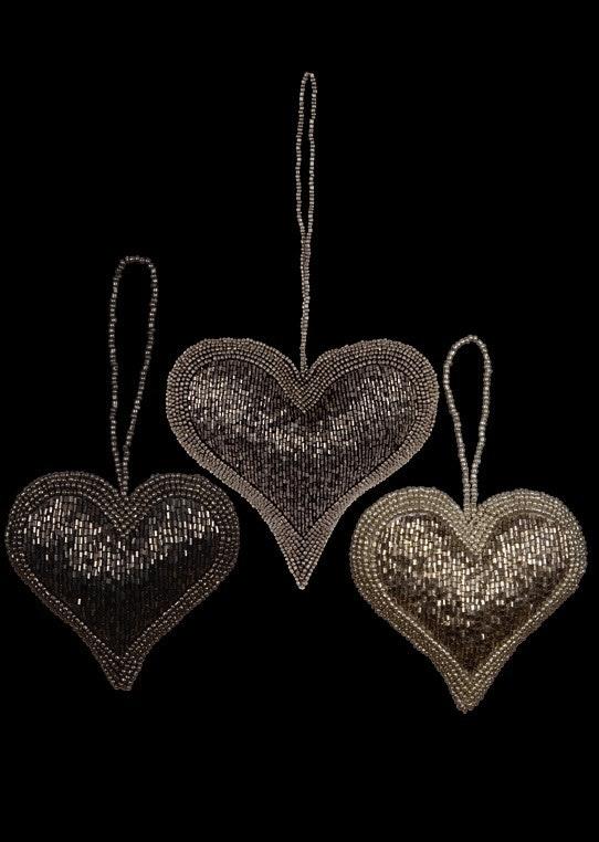 Hjerter med perler