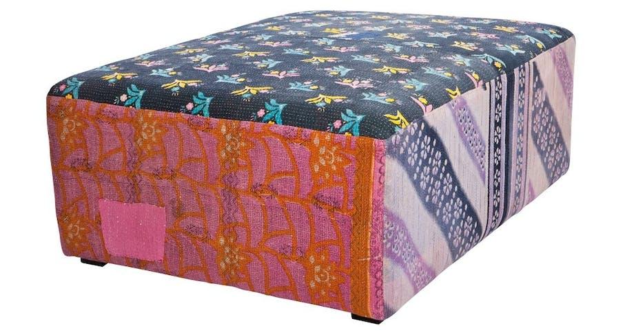 Puf med tekstil