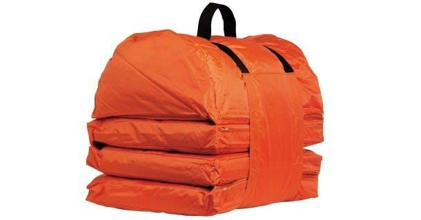Orange bærbar folde ud-madras