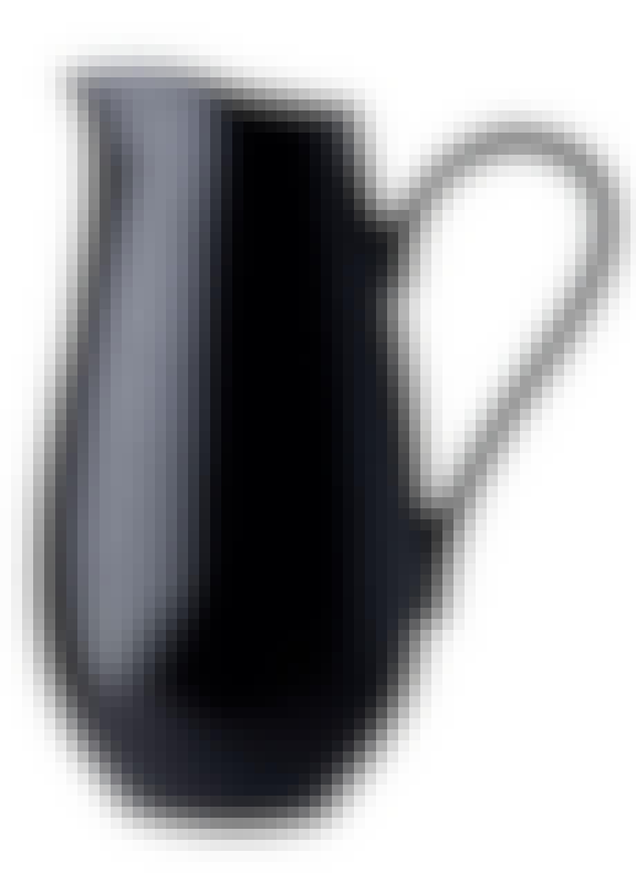 Enkel, sort porcelænskande