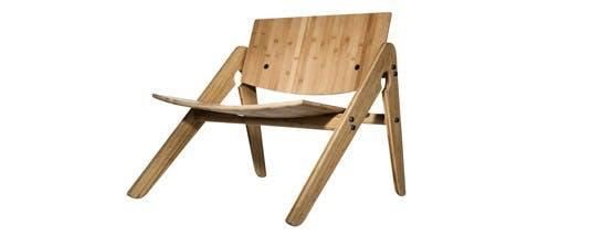 Loungestol i bæredygtigt bambus