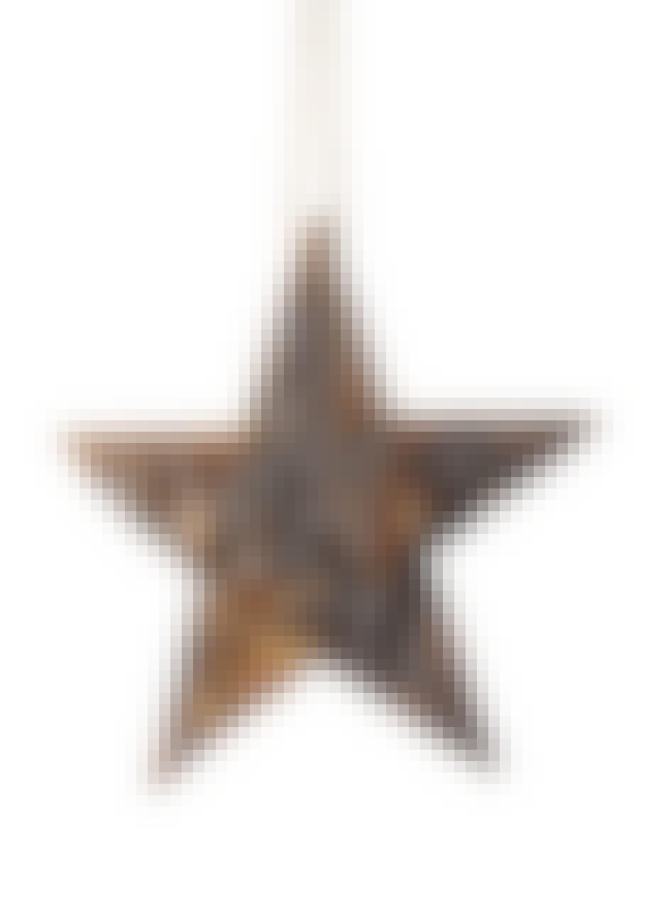 Rustik stjerne i fyrretræ