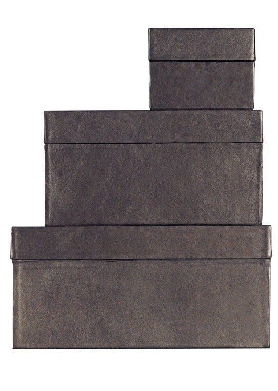 Opbevaringskasser i læder