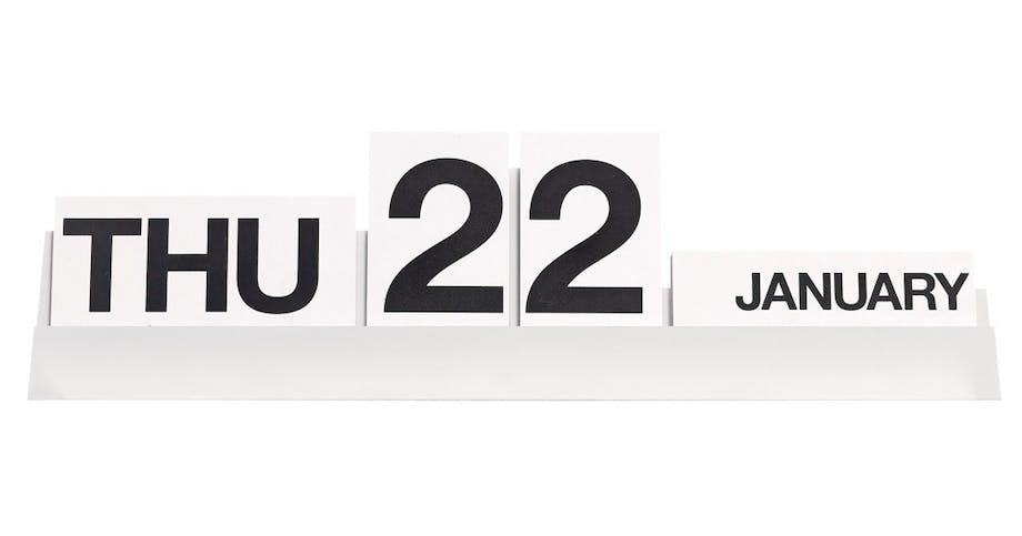 Kalender i kraftig plast