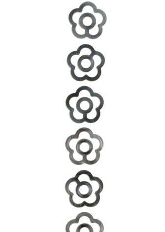 Blomsterformede papirklips