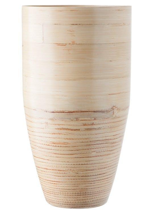 Høj vase i bambus