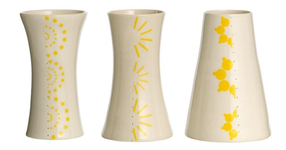 Vase med tryk