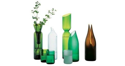 Vaser i genbrugsglas