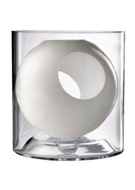 Vase i mundblæst glas