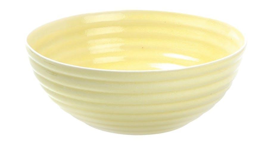 Skål i lysegul glaseret porcelæn
