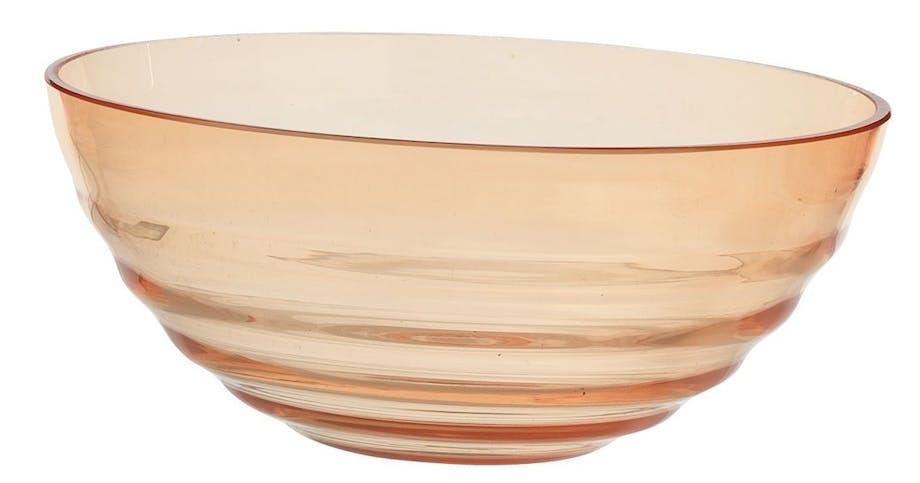 Glasskål i bølget glas