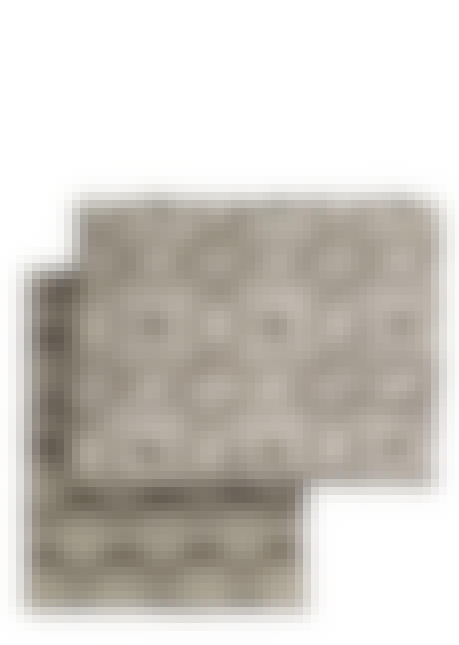 Hvid bomuldsplaid
