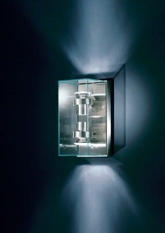 Væglampe i glas