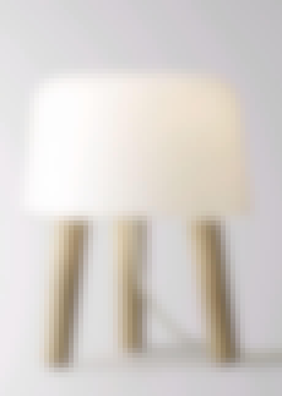 Træbenet glaslys
