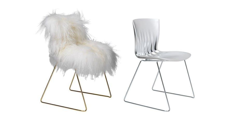 Særudgave af Ripple Chair i sølv og guld