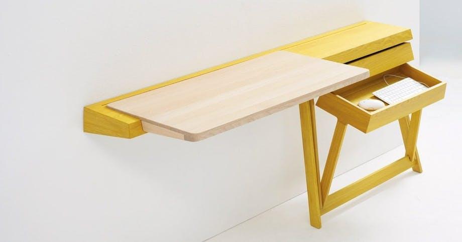 Skævt skrivebord