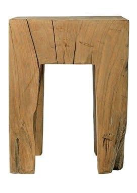 Håndlavet træbord/skammel