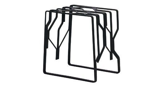Stol/bord i lakeret metal fra Hay