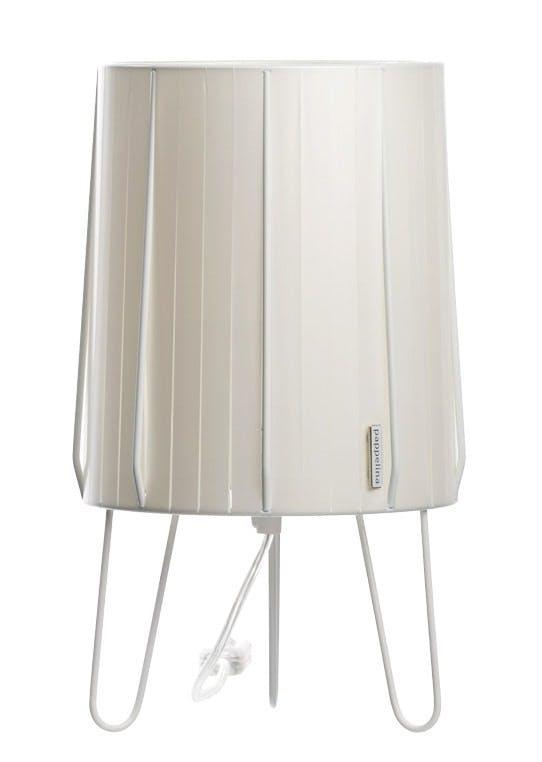Bordlampe i plaststrimler