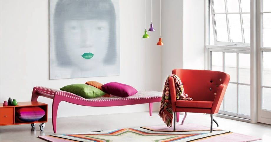 Pink daybed, designet af arkitekt Jørgen Høvelskov