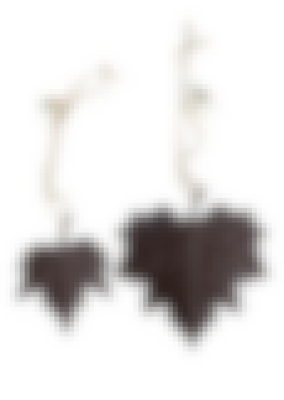 Bøgeblade i malet zink