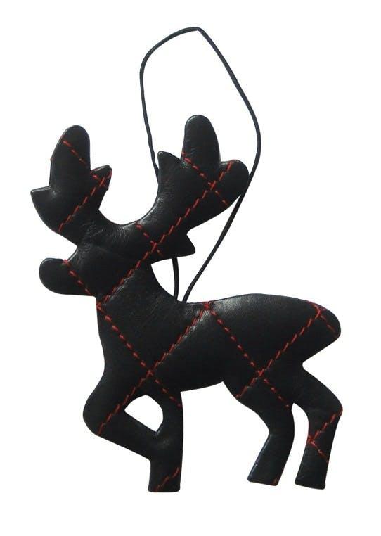 Rensdyr i sort læder