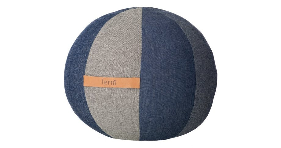 Puf, Blue Denim Poul Large