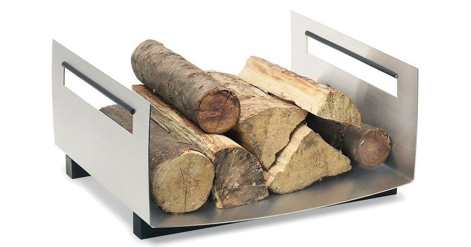 Brændekurv i rustfrit stål
