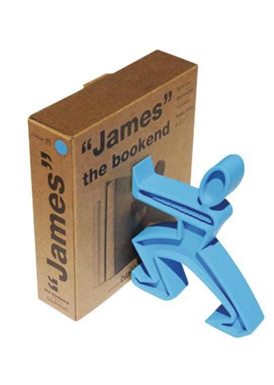 Bogstøtte, James