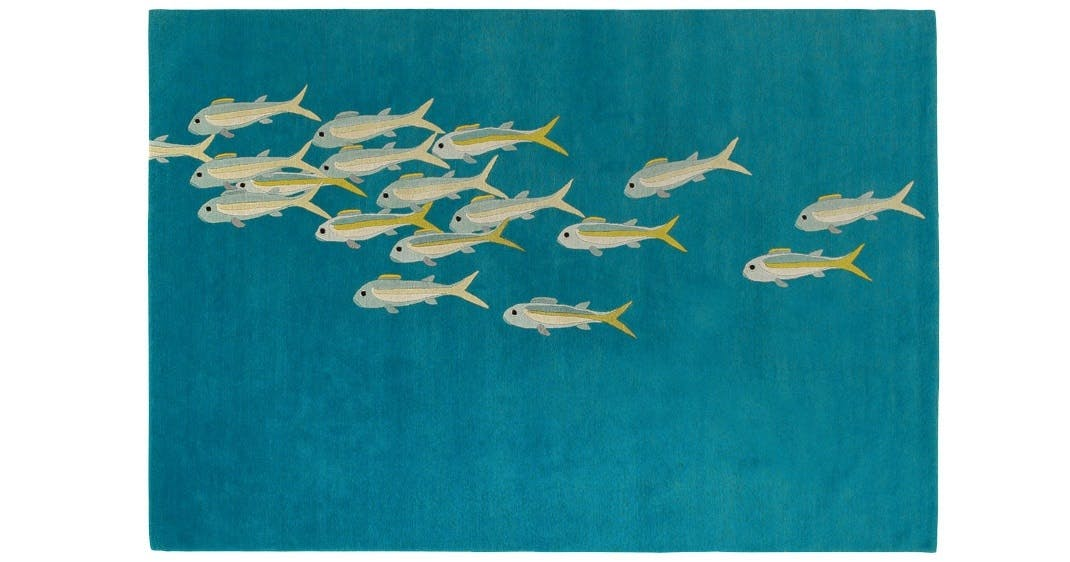 Håndknyttet gulvtæppe, Fish