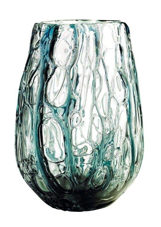 Vase i blåt glas