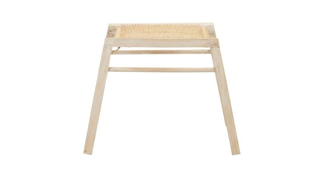Møbler: Skammel i bambus og sisal