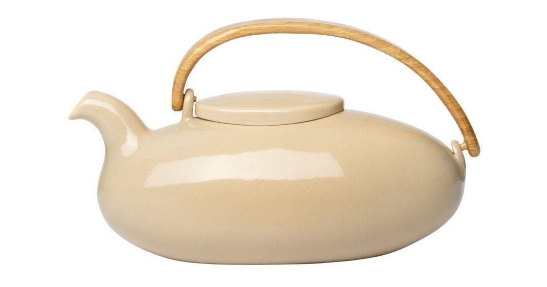 Tekande i glaseret porcelæn