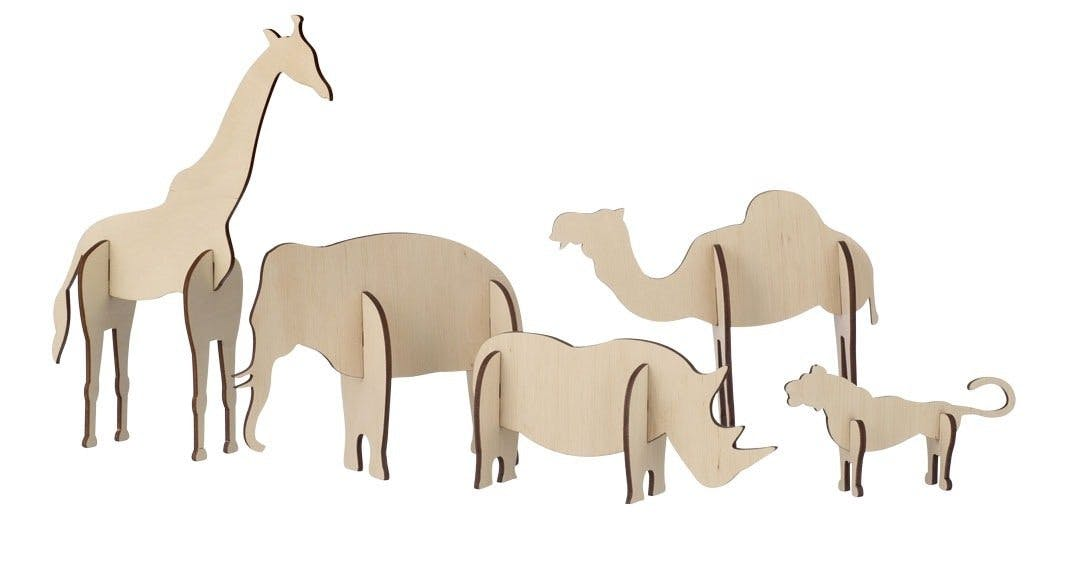 Træfigurer, Plywood Animals