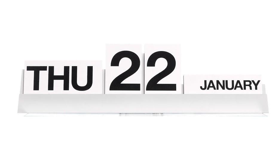 Kalender i kraftigt plast