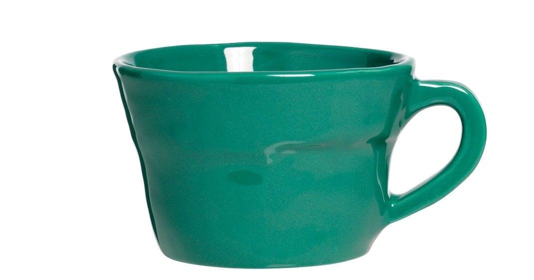 Kop i glaseret porcelæn