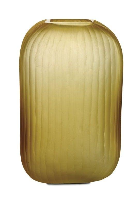 Vase i mat glas