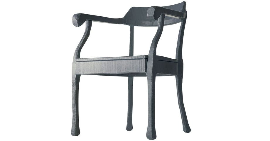 Håndskåret stol, RAW