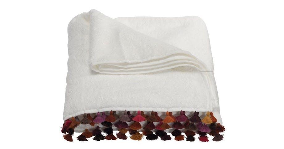 Badelagen med farvede kvaster