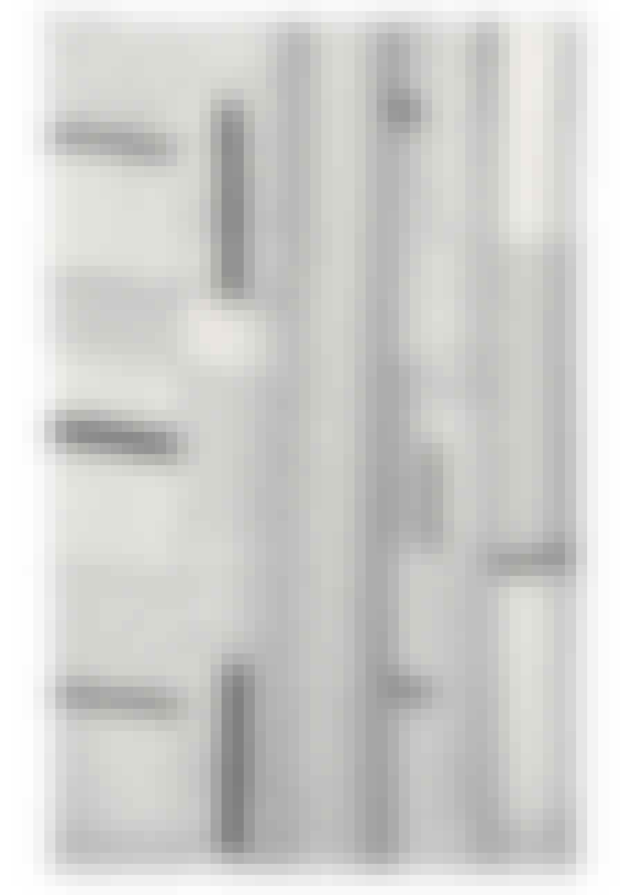 Gardin med grafisk mønster