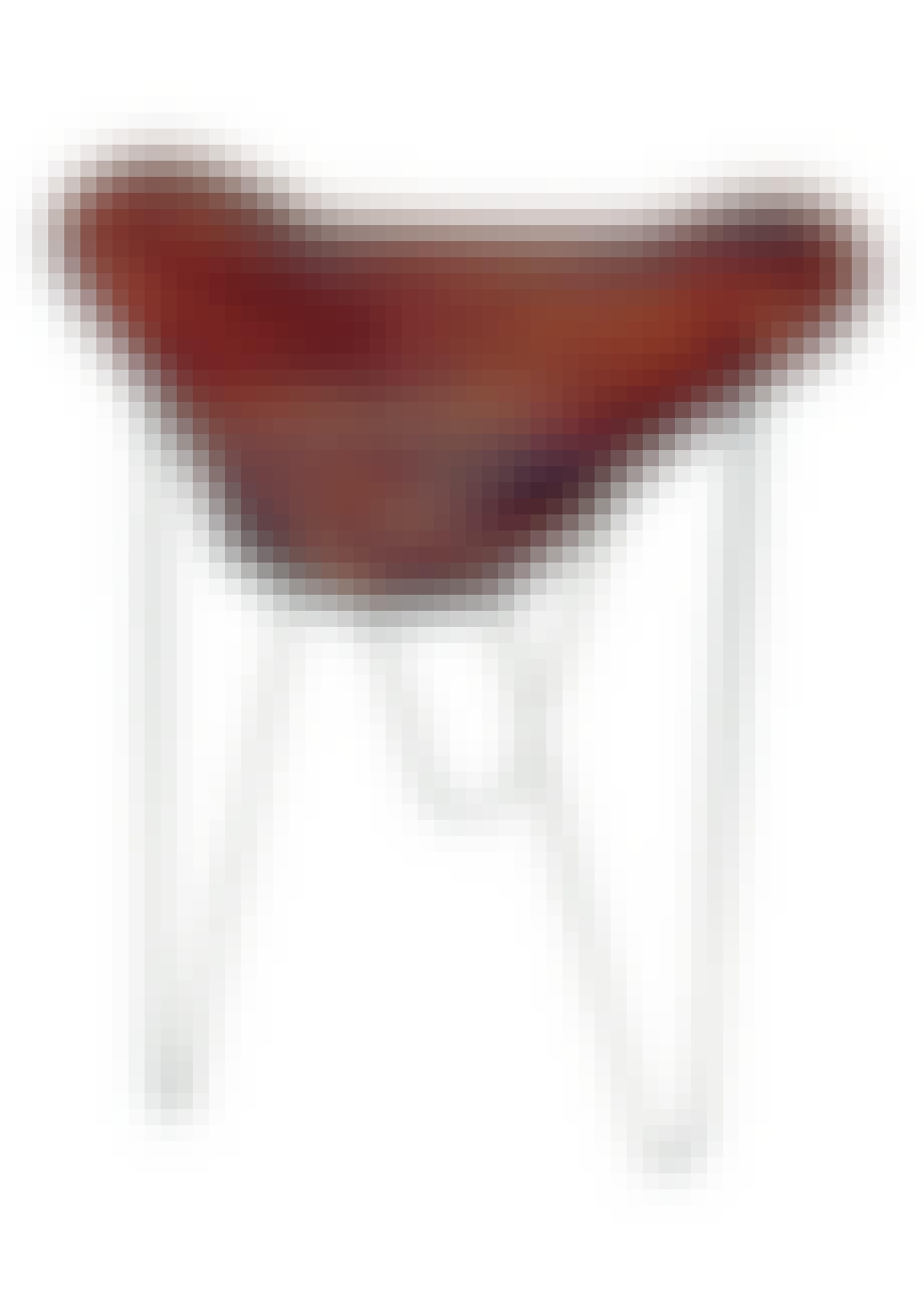 Møbler: Taburet med stel