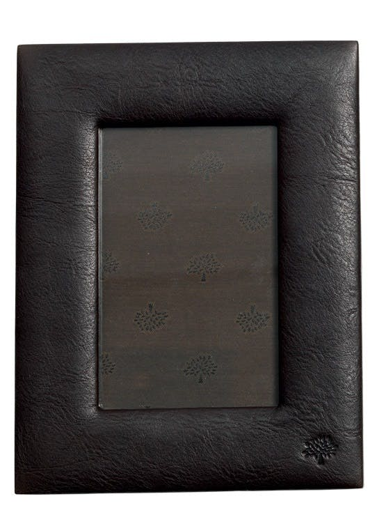 Ramme i chokoladebrunt læder