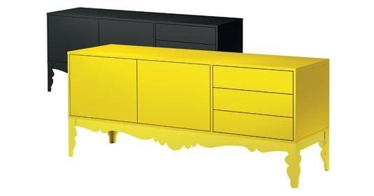 Møbler: Kun i sort og gul