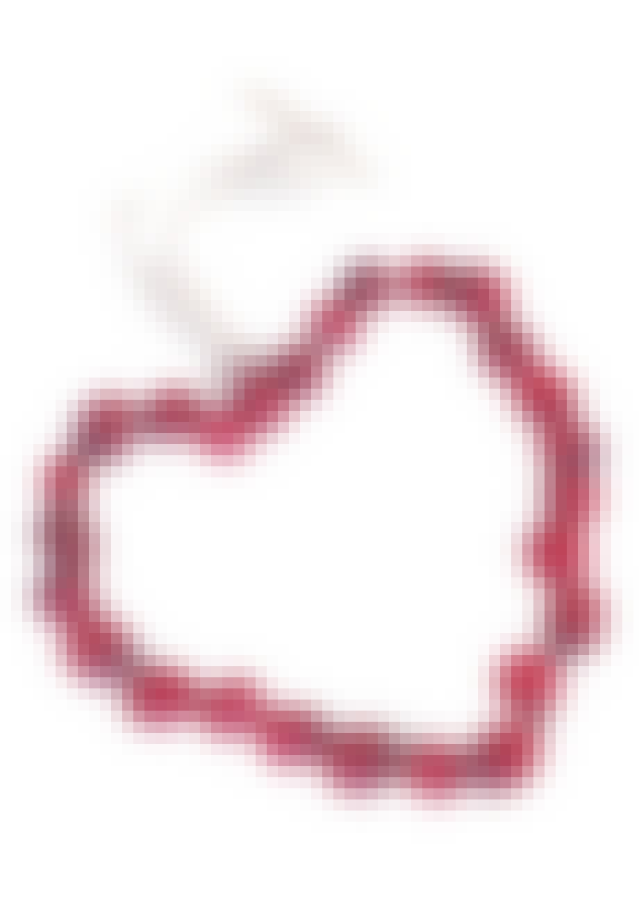 Hjerte af tranebær