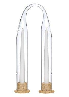 Dobbelt lysestage med base