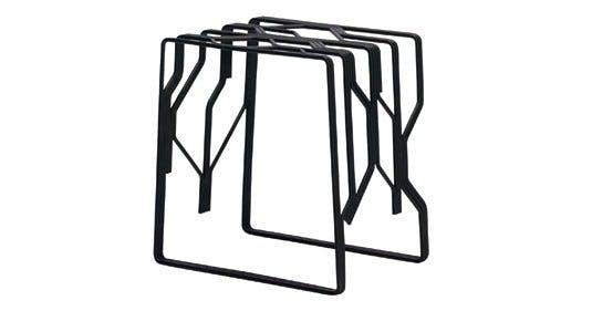 Møbler: Stol/bord i lakeret metal