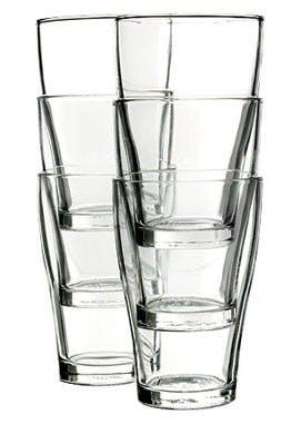 Klare glas i stabler