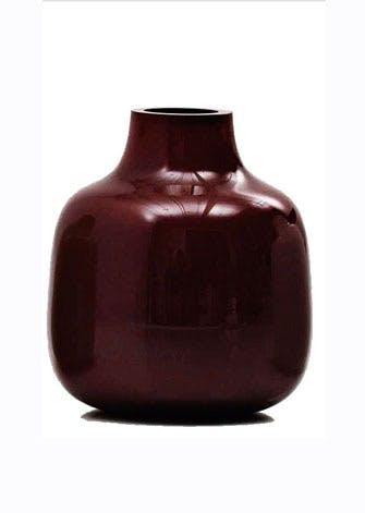 Vase i håndblæst glas